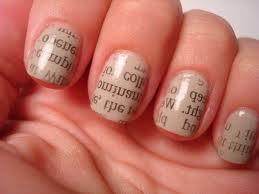 newsprint nails